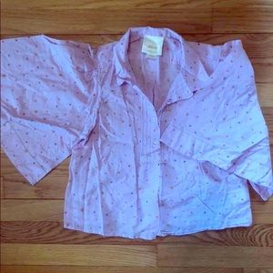 anthropologie bell sleeve 3/4 length blouse